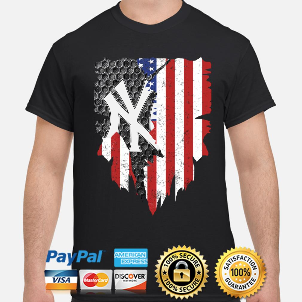 New York Yankees Inside American Flag Shirt