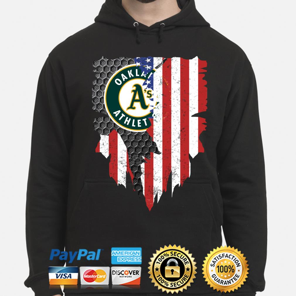 Oakland Athletics Inside American Flag Shirt hoodie