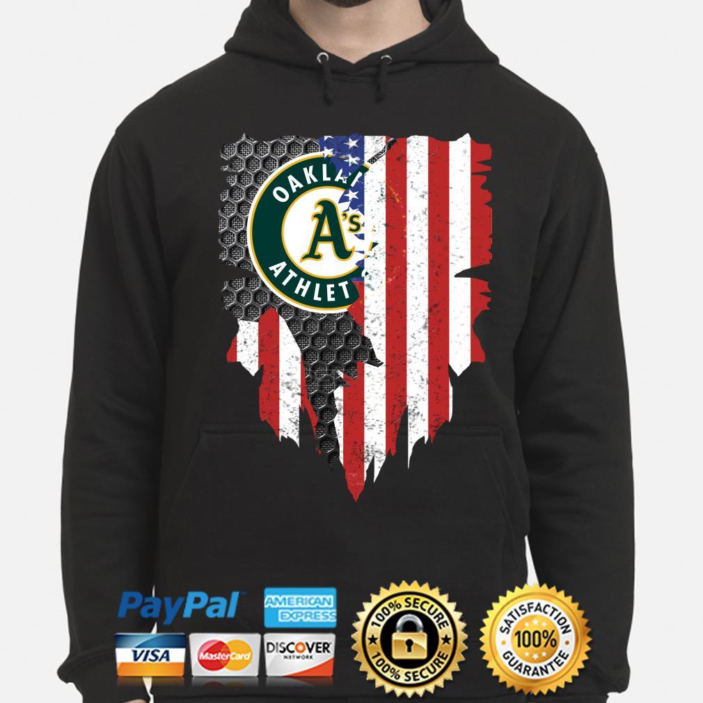 Oakland Athletics Inside American Flag Shirt hoodie