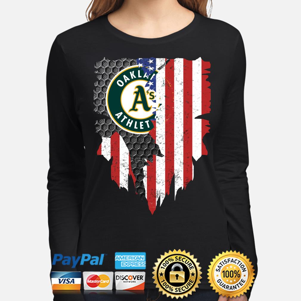 Oakland Athletics Inside American Flag Shirt long-sleeve