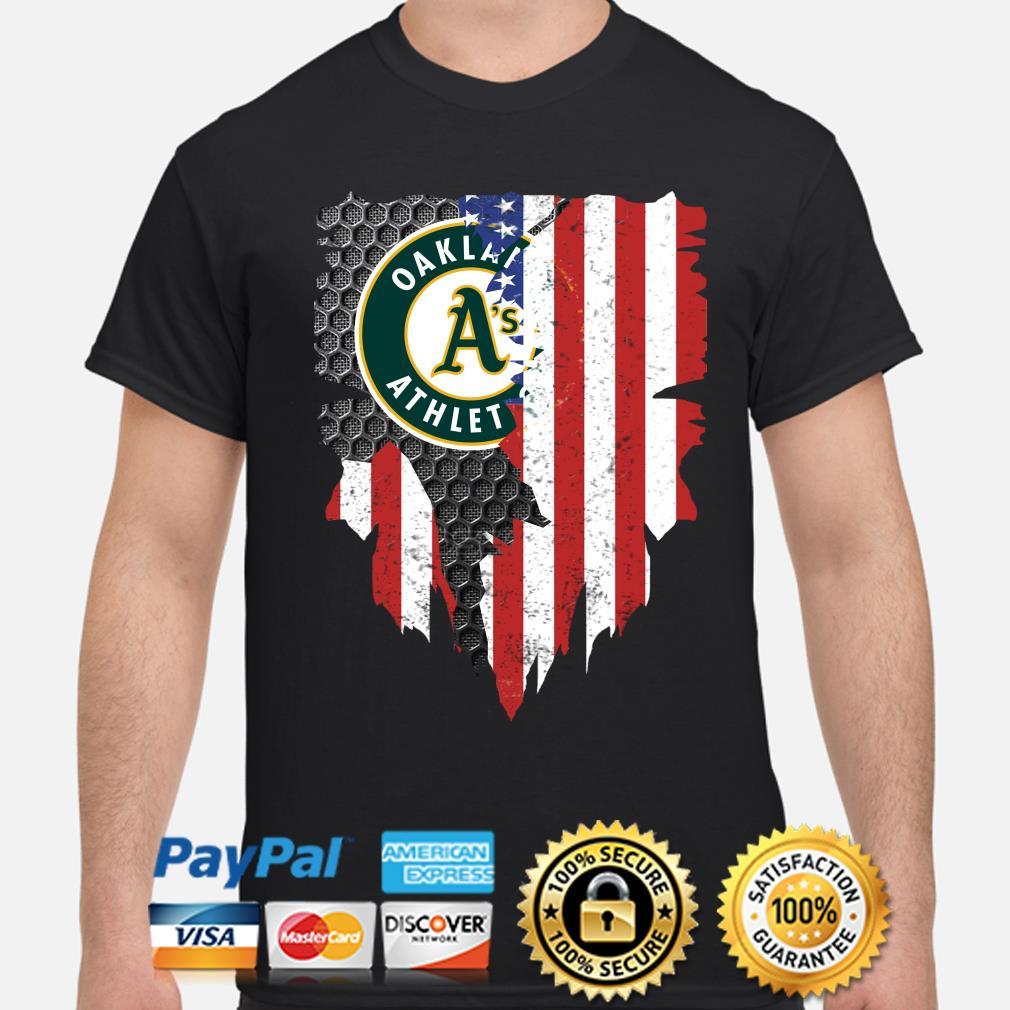 Oakland Athletics Inside American Flag Shirt