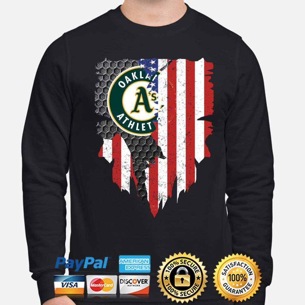 Oakland Athletics Inside American Flag Shirt sweater