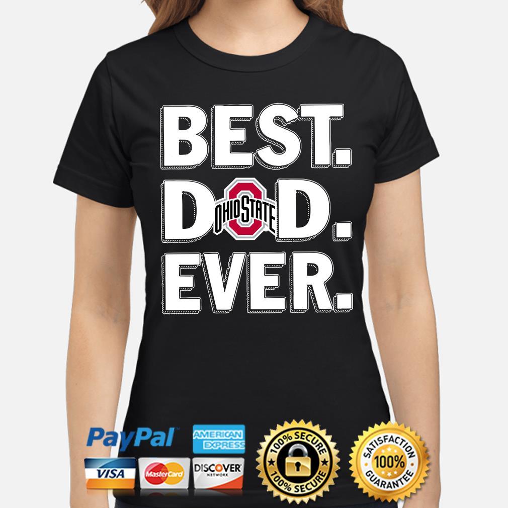 Ohio State Buckeyes Best Dad Ever s ladies-shirt