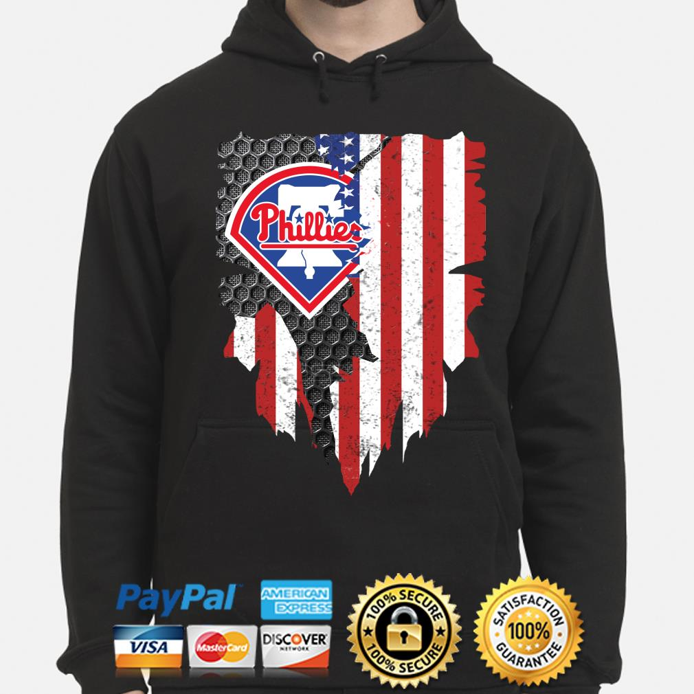 Philadelphia Phillies Inside American Flag Shirt hoodie