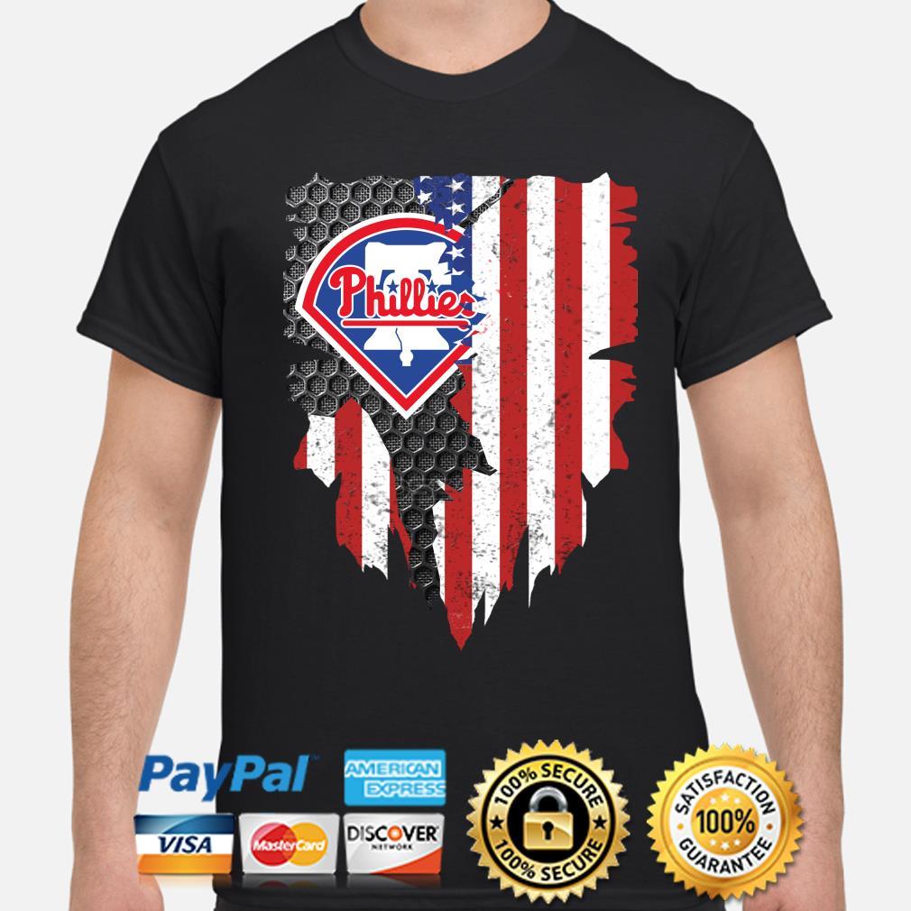 Philadelphia Phillies Inside American Flag Shirt