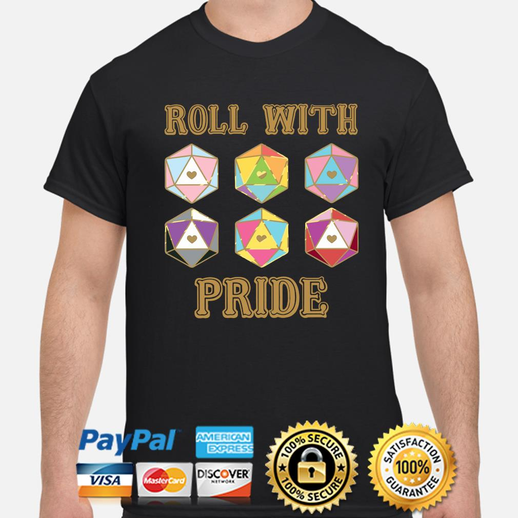 LGBT Roll with pride Dungeon Dragon shirt