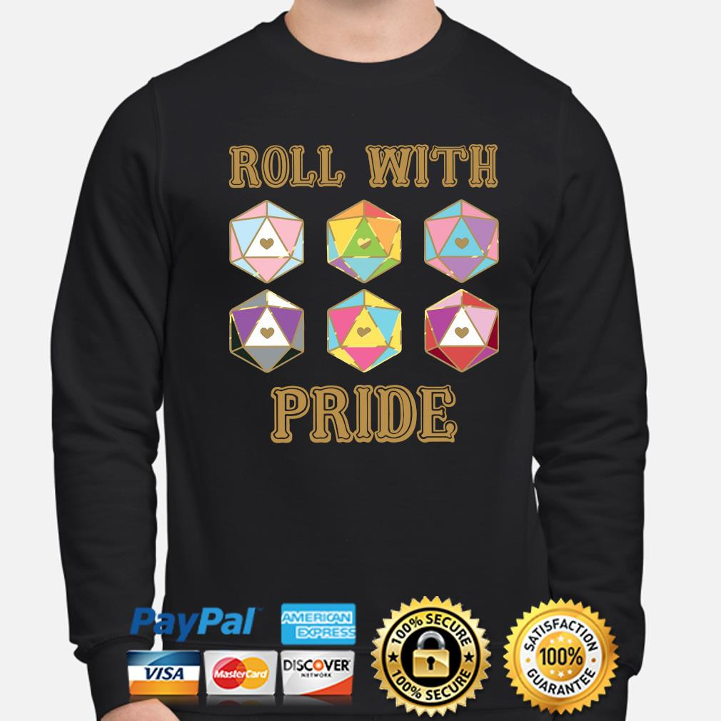 LGBT Roll with pride Dungeon Dragon s sweater