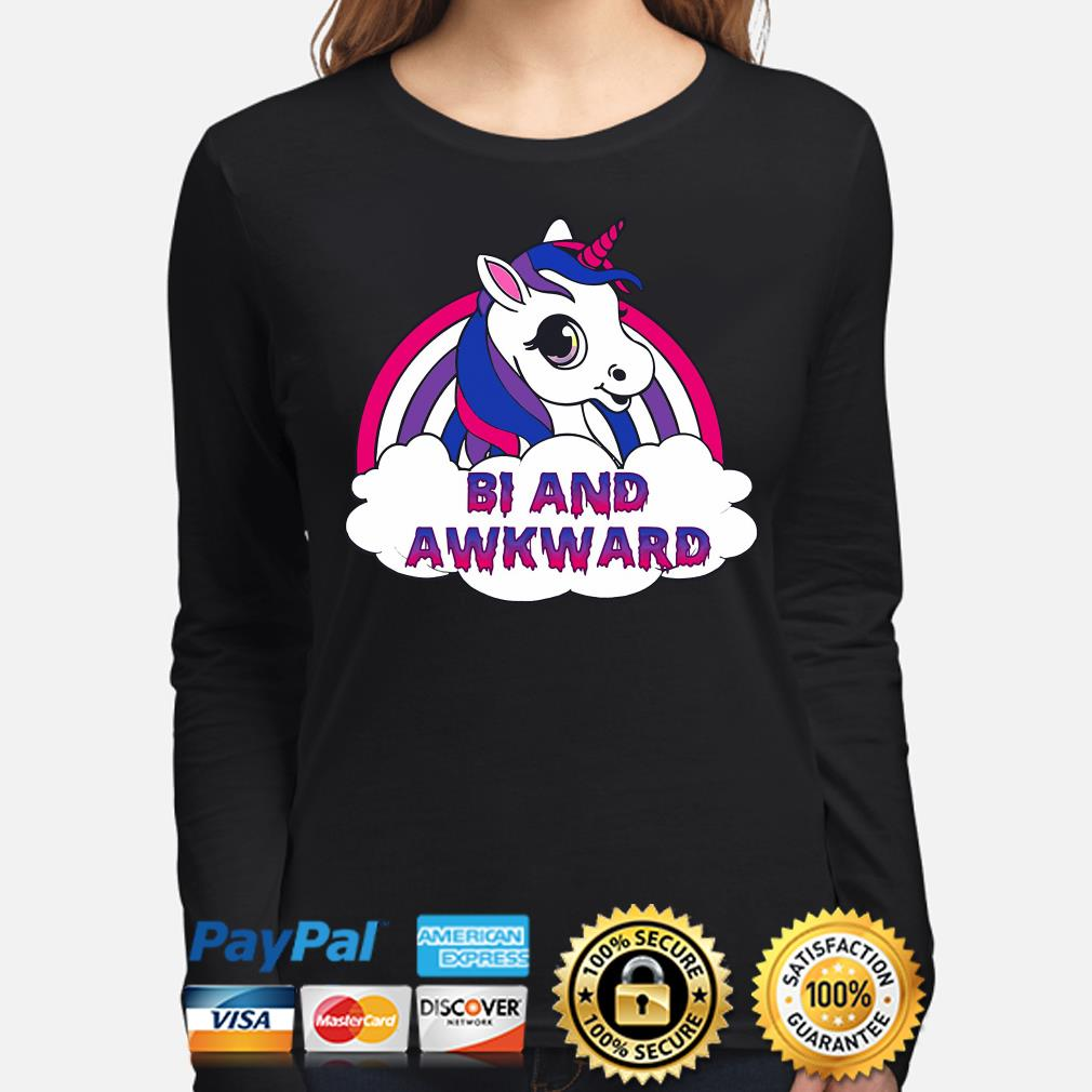 LGBT Unicorn Bi and Awkward s long-sleeve