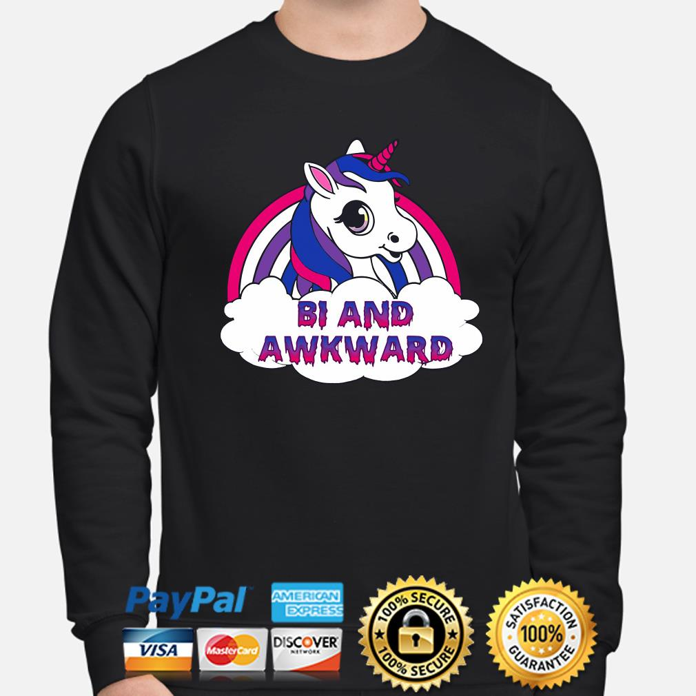 LGBT Unicorn Bi and Awkward s sweater