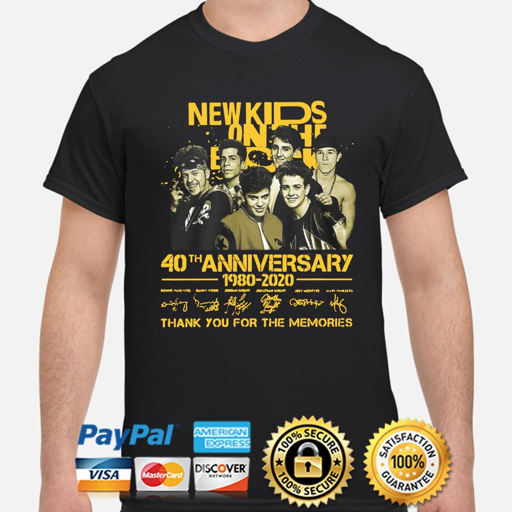 New Kids On The Block 40th anniversary thank you for the memories shirt