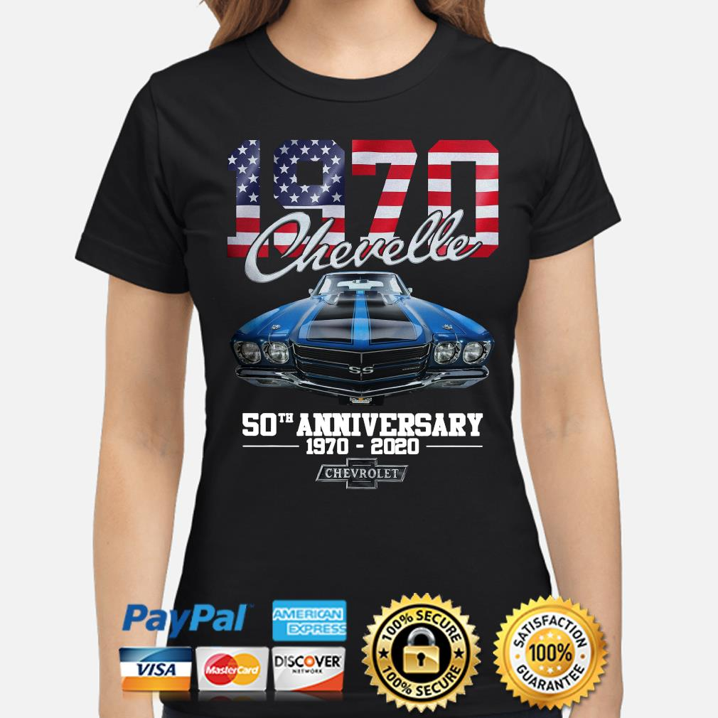 Chevelle 1970 50th anniversary Chevrolet American flag s ladies-shirt