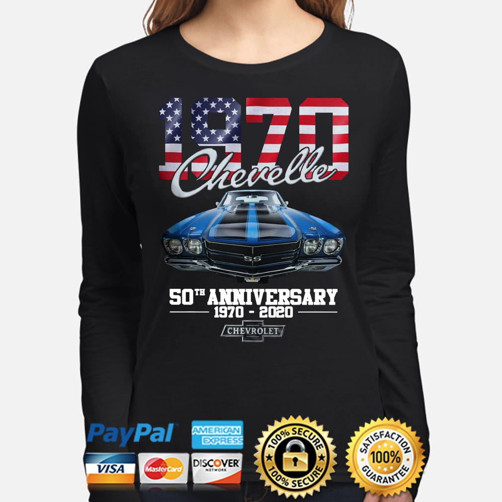 Chevelle 1970 50th anniversary Chevrolet American flag s long-sleeve