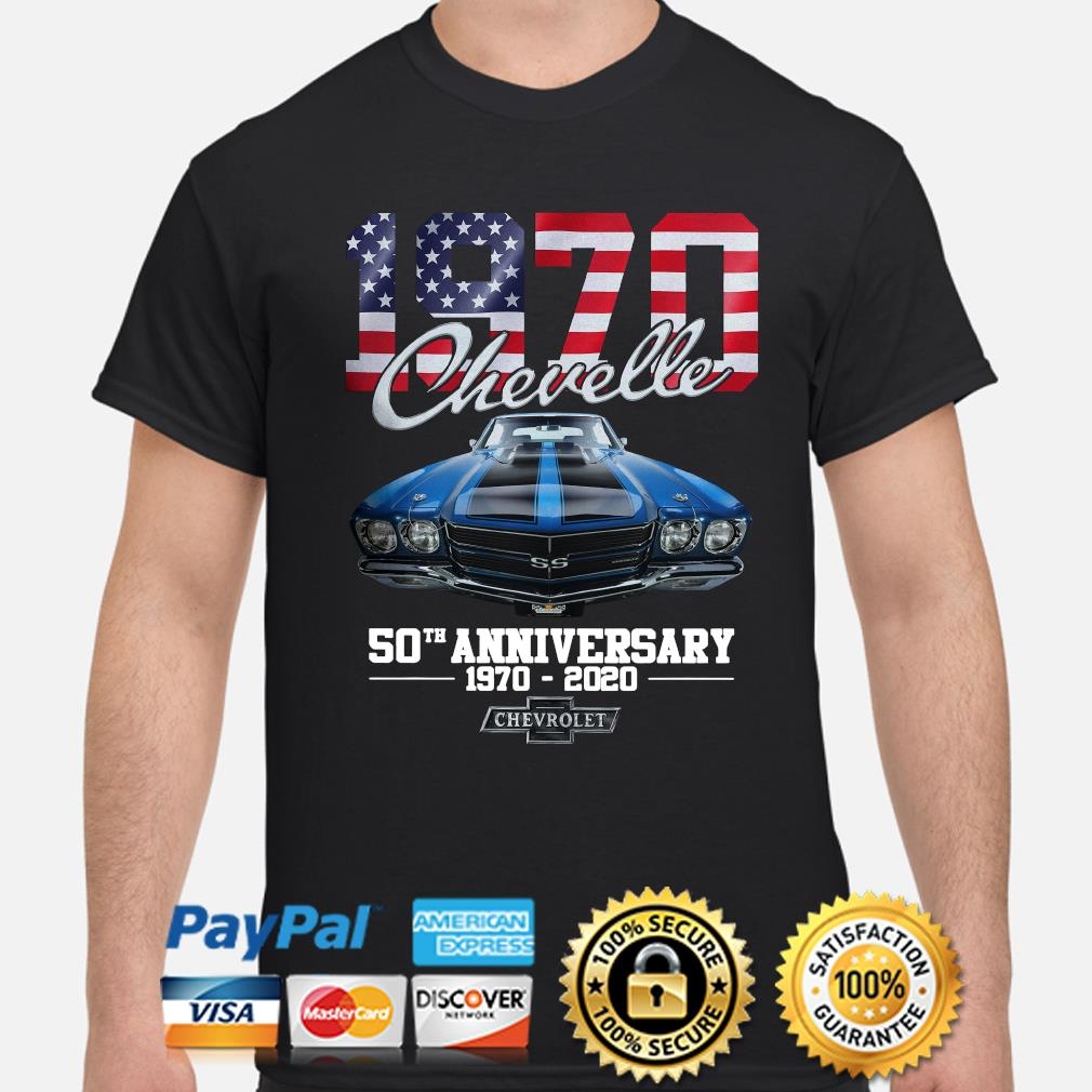 Chevelle 1970 50th anniversary Chevrolet American flag shirt