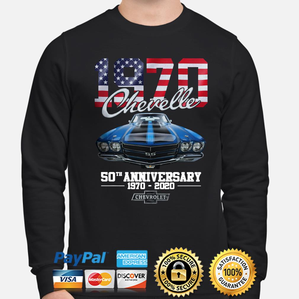 Chevelle 1970 50th anniversary Chevrolet American flag s sweater