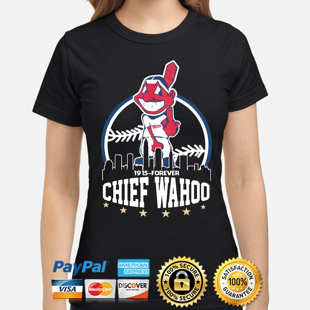 Cleveland Indians 1915 Forever Chief Wahoo s ladies-shirt