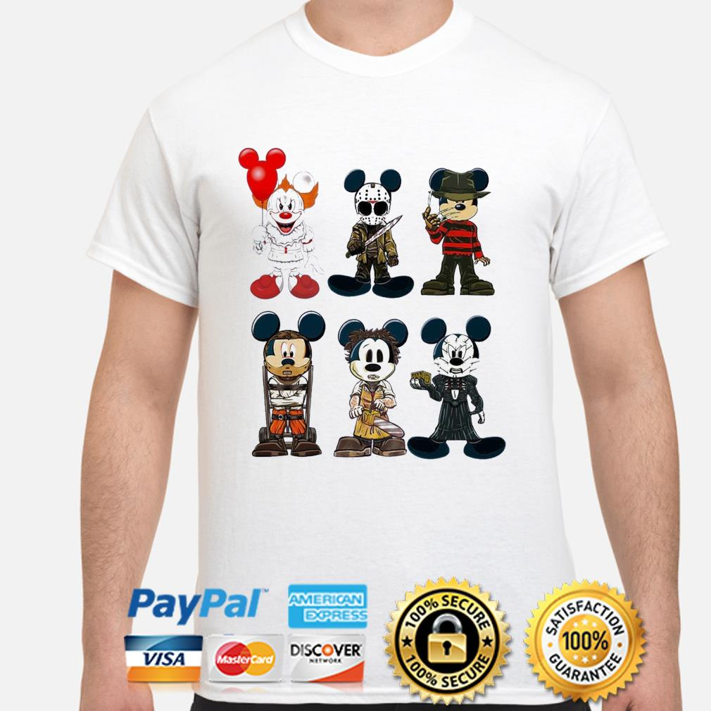 Disney Mickey Mouse style Horror character Halloween shirt