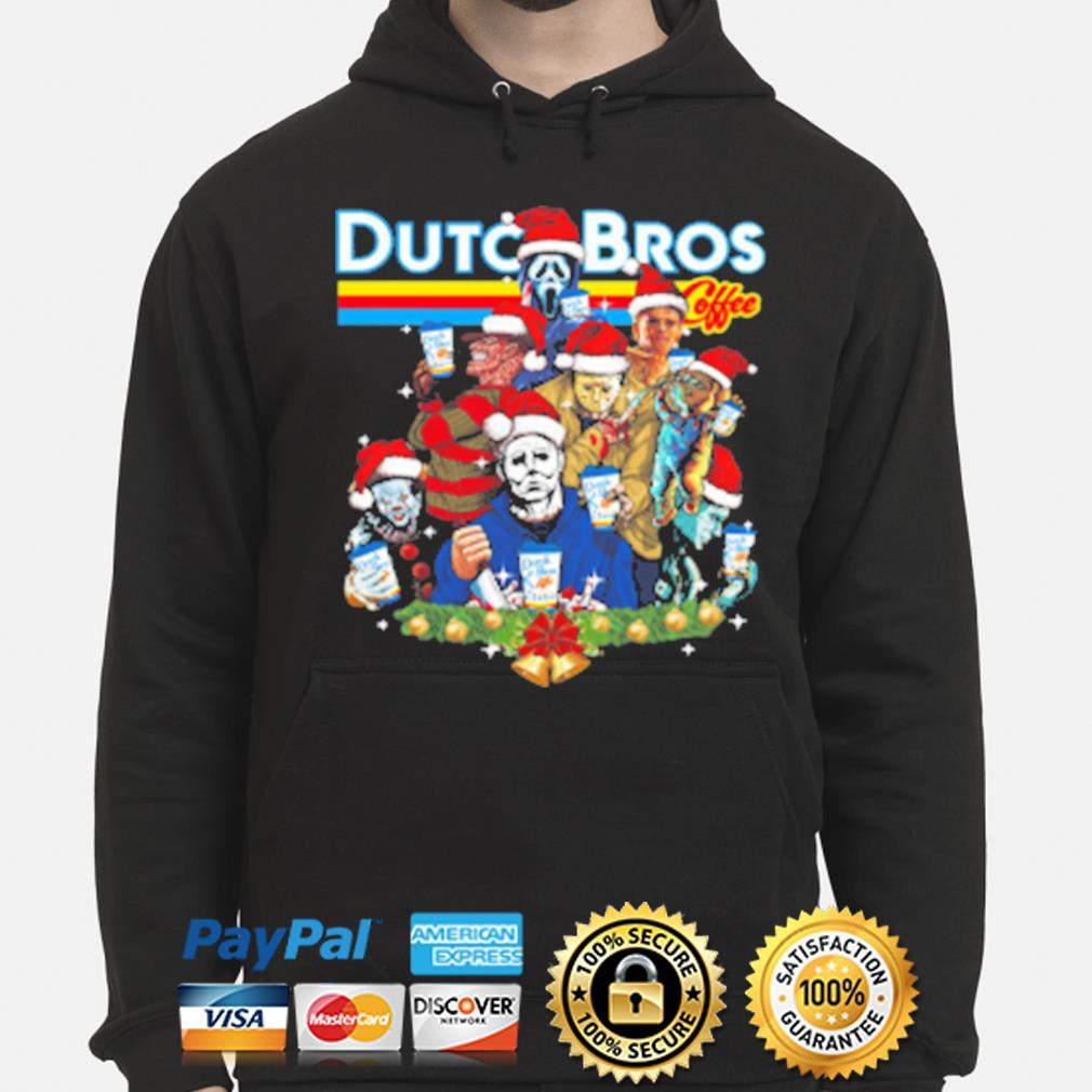 Merry Christmas Horror character Dutch Bros coffee s hoodie