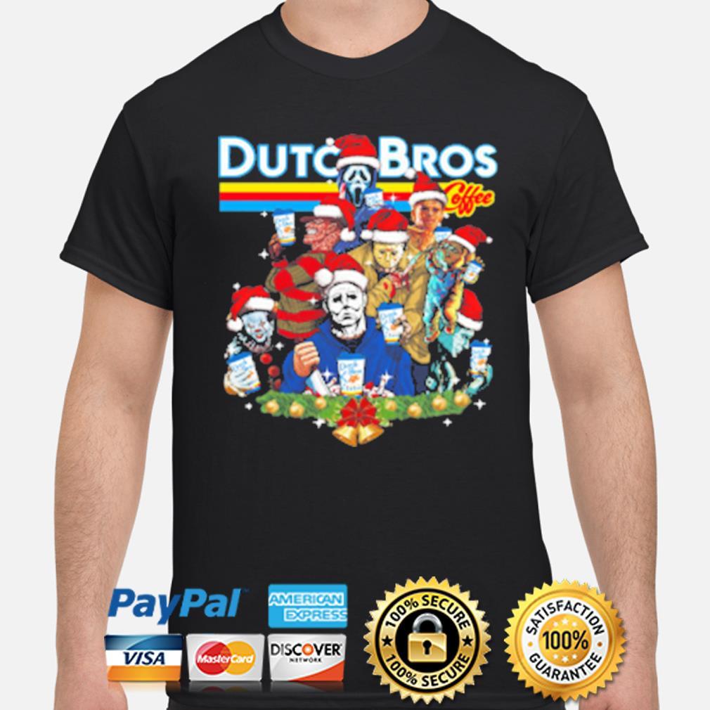 Merry Christmas Horror character Dutch Bros coffee shirt