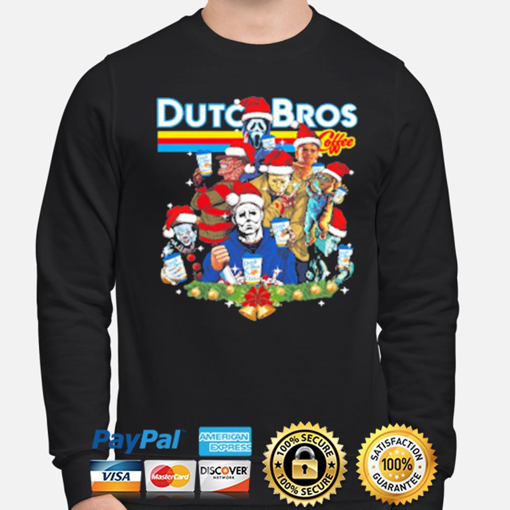 Merry Christmas Horror character Dutch Bros coffee s sweater