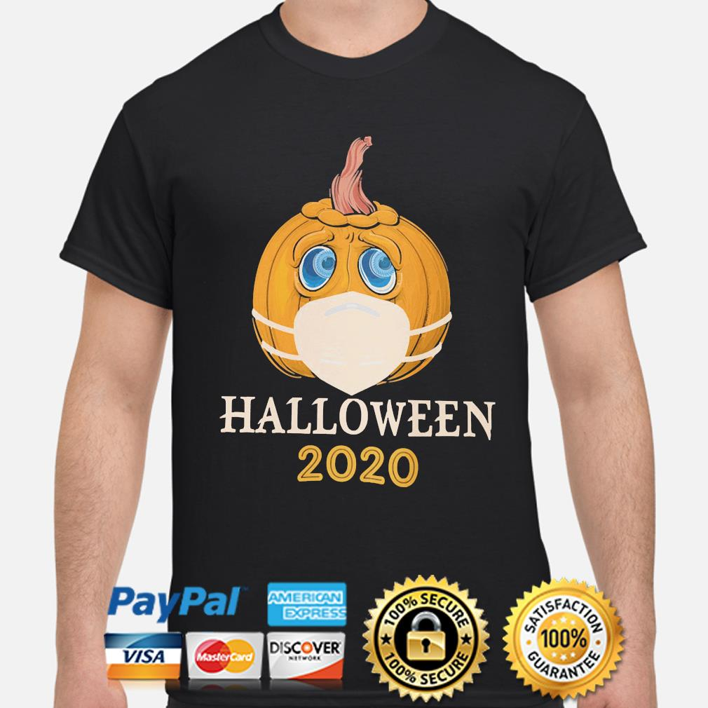 Pumpkin face mask Halloween 2020 shirt