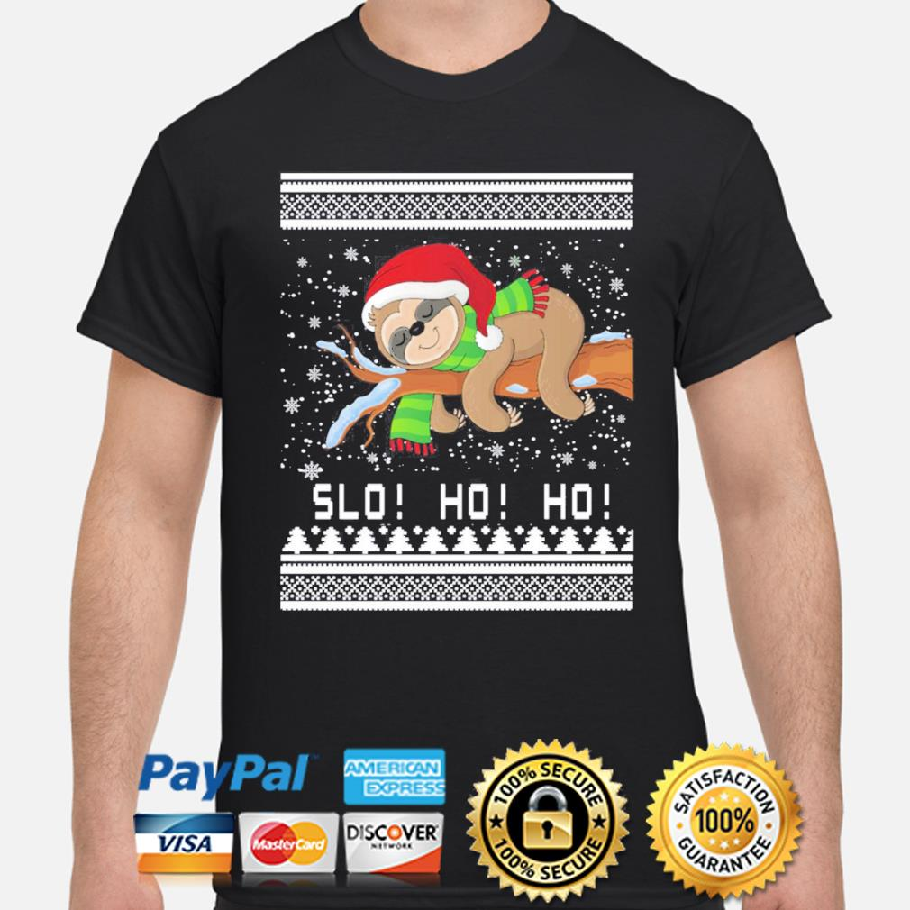 Sloth slo ho ho Christmas sweatshirt