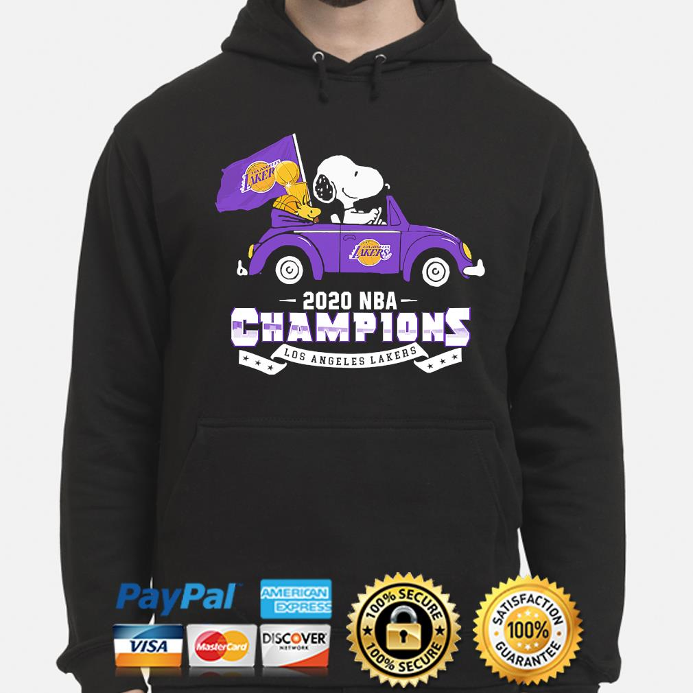 Snoopy and Woodstock 2020 NBA Champions Los Angeles Lakers s hoodie