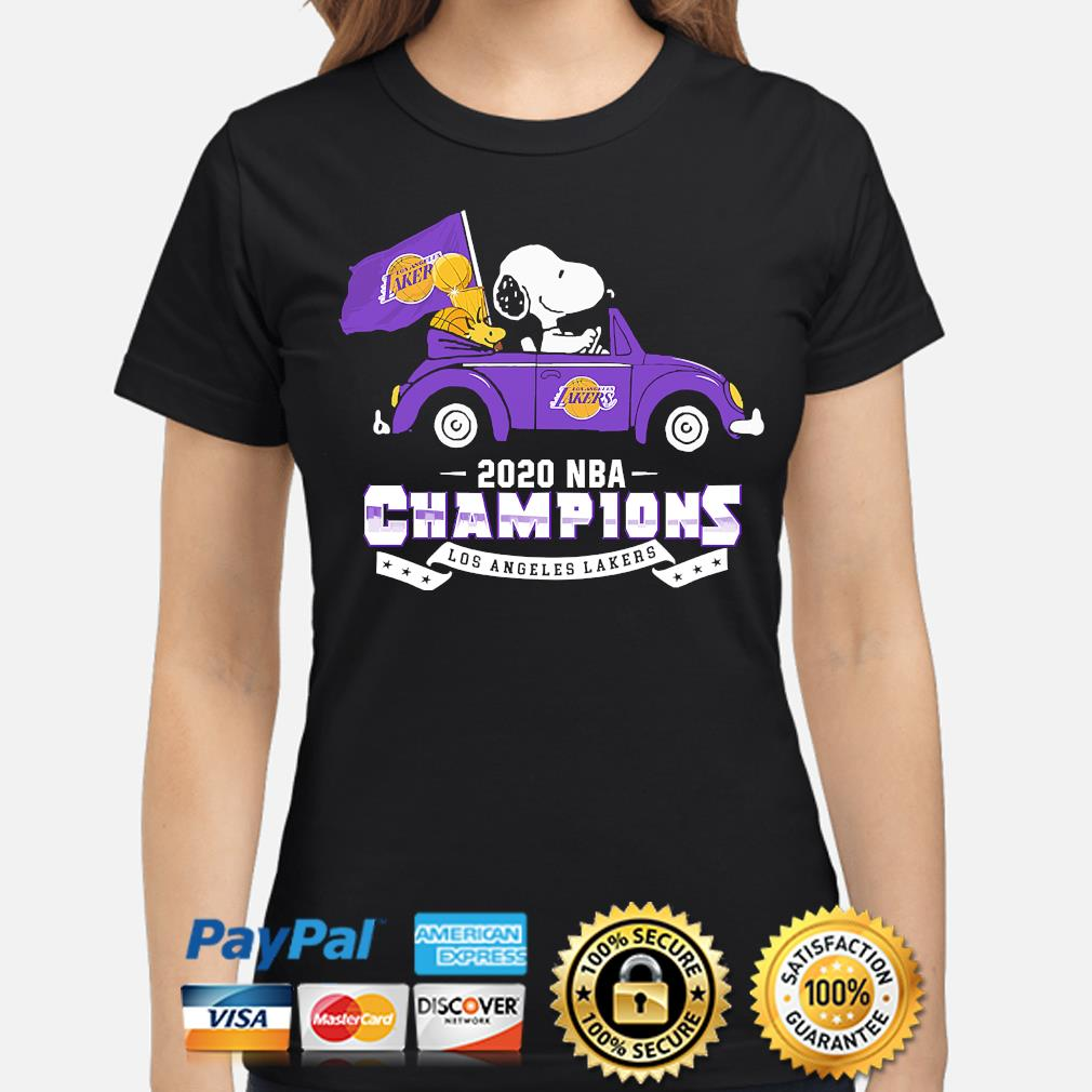 Snoopy and Woodstock 2020 NBA Champions Los Angeles Lakers s ladies-shirt