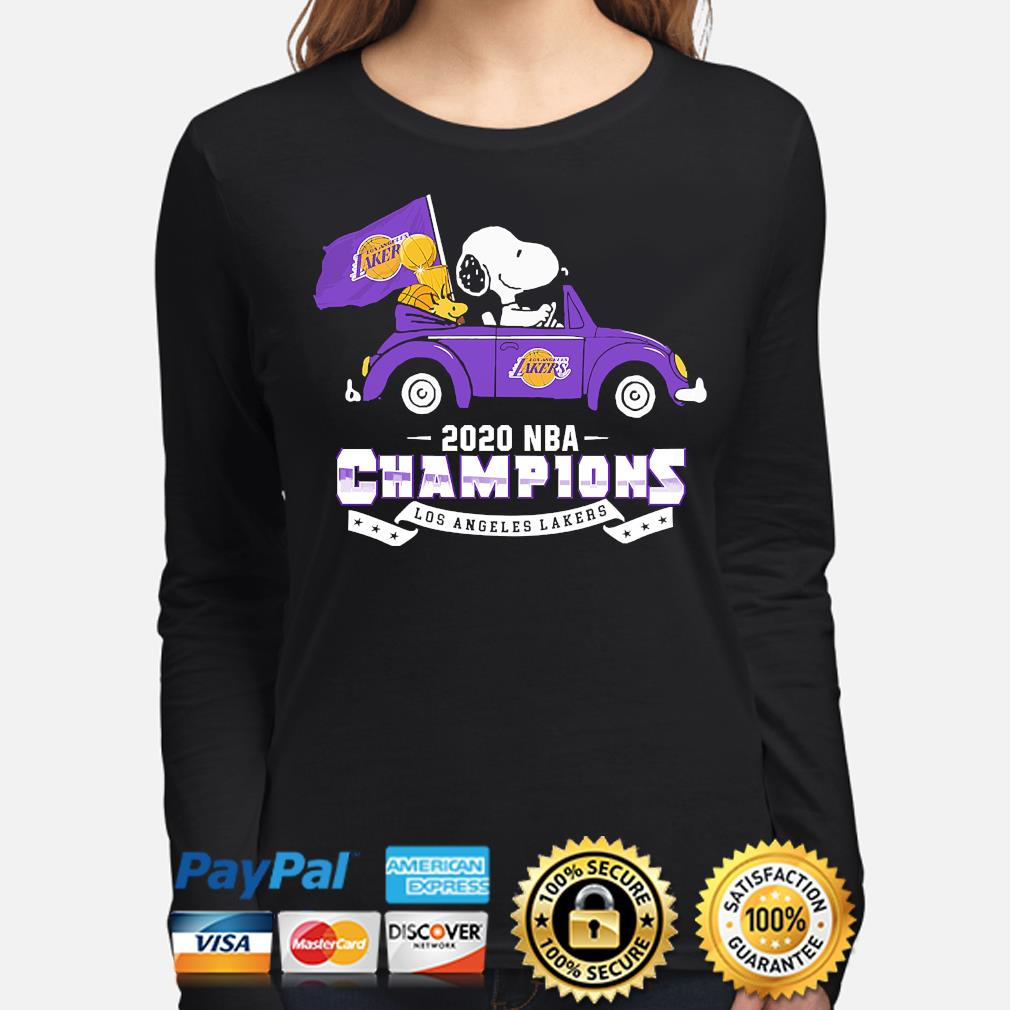 Snoopy and Woodstock 2020 NBA Champions Los Angeles Lakers s long-sleeve