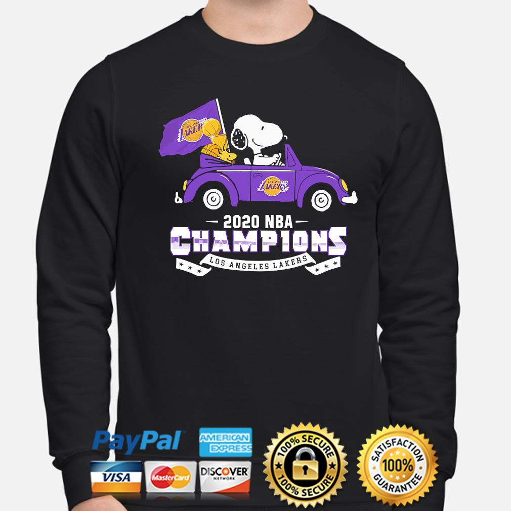 Snoopy and Woodstock 2020 NBA Champions Los Angeles Lakers s sweater